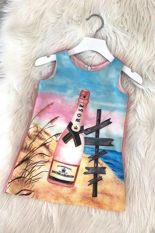 Drunk in fashion детска рокля