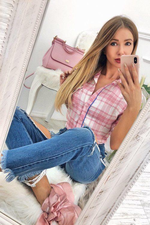 Dresscode pink риза каре
