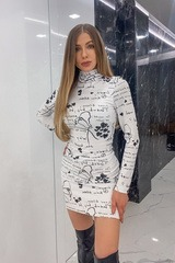 Position to win рокля от плетиво - бяла
