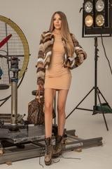 I'm into you топло палтенце от еко косъм - кафяво - Изображение 5