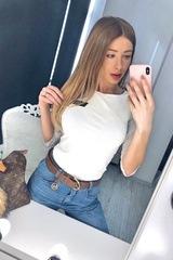 Alessa Everyday блуза с 3/4 ръкав - екрю - Изображение 1