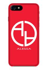 Alessa logo кейс - червен