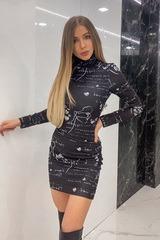 Position to win рокля от плетиво  - черна