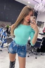 Alessa Everyday Блуза С 3/4 Ръкав - Мента