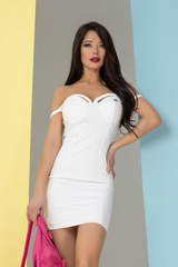 So hot they hate it bodycon рокля - бяла