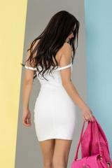 So hot they hate it bodycon рокля - бяла - Изображение 5
