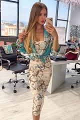 All I Want Is A Yacht midi рокля - Beige - Изображение 1