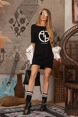 Alessa logo рокля - черна - Изображение 4