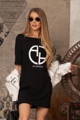 Alessa logo рокля - черна - Изображение 2
