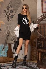 Alessa logo рокля - черна - Изображение 6