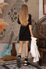 Alessa logo рокля - черна - Изображение 7