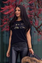 Inspired by the Fear of Average тениска - черна със златен надпис