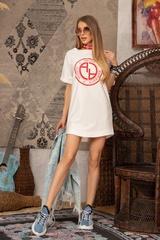 Alessa logo рокля - Екрю - Изображение 6