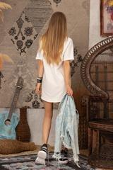 Alessa logo рокля - Екрю - Изображение 7
