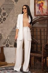 Steal my style Панталон с подвижен колан - Екрю - Изображение 5