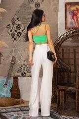 Steal my style Панталон с подвижен колан - Екрю - Изображение 10