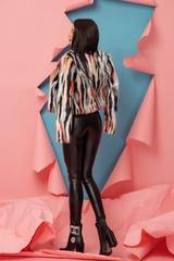 Fashion Killa Топло Палтенце От Еко Косъм - Flame Orange - Изображение 2