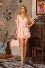 Girl on fire Рокля -  Light Pink - Изображение 4