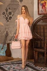 Girl on fire Рокля -  Light Pink - Изображение 6
