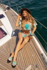 All I Want Is A Yacht Бански ruffles - Aqua - Изображение 2