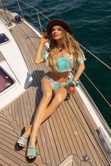 All I Want Is A Yacht Бански Бикини с ниска талия - Aqua - Изображение 3