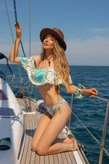 All I Want Is A Yacht Бански ruffles - Aqua - Изображение 4