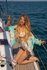 All I Want Is A Yacht Бански Бикини С Висока Талия - Beige - Изображение 4