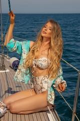 All I Want Is A Yacht Бански Бикини С Висока Талия - Beige - Изображение 5