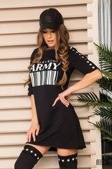 Alessa Army street рокля-туника - черно