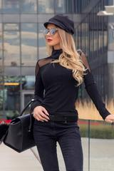 Charming and Comfy блуза-поло с мрежа