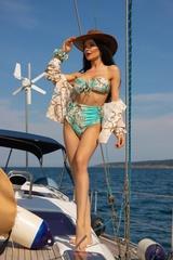 All I Want Is A Yacht Бански Топ С Подплънки - Aqua - Изображение 7