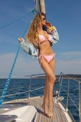 On my radar Бански Топ Триъгълници - Light Pink - Изображение 5