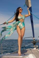 All I Want Is A Yacht Бански Топ С Подплънки - Aqua - Изображение 6
