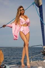 Eternal Sunshine Бански Кроп-Топ ruffles - Light Pink - Изображение 7