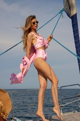 Eternal Sunshine Бански Кроп-Топ ruffles - Light Pink - Изображение 3