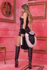 Alessa Лого Жилетка От Плетиво с подвижна качулка - Черна - Изображение 5