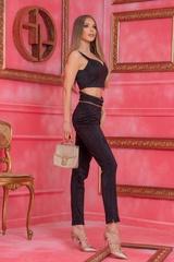 Barbie life doll дълъг панталон - Черен - Изображение 4