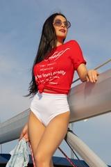 Top-Shelf T-Shirt - червена - Изображение 4