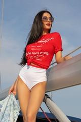 Top-Shelf T-Shirt - червена - Изображение 1
