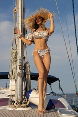 All I Want Is A Yacht Бански Бикини с ниска талия - Beige - Изображение 4