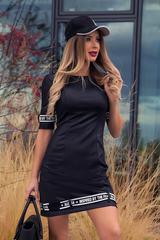 Ежедневна спортна черна рокля Kill the haters with style - Изображение 1