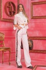 Alessa luxury панталон с широк крачол - Бял - Изображение 4