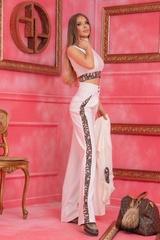 Alessa luxury панталон с широк крачол - Бял - Изображение 7