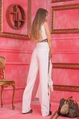 Alessa luxury панталон с широк крачол - Бял - Изображение 8