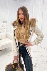 Alessa Clique жилетка от плетиво - крем