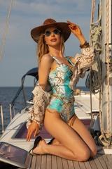All I Want Is A Yacht Цял бански с връзки - Aqua - Изображение 5