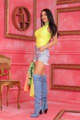 Steal Мy Style Топ - Жълт Неон - Изображение 5
