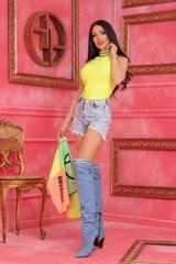 Steal Мy Style Топ - Жълт Неон - Изображение 6