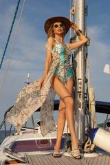 All I Want Is A Yacht Цял бански с връзки - Aqua - Изображение 8