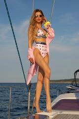 She Baller Бански Топ Триъгълници - pink-yellow - Изображение 3